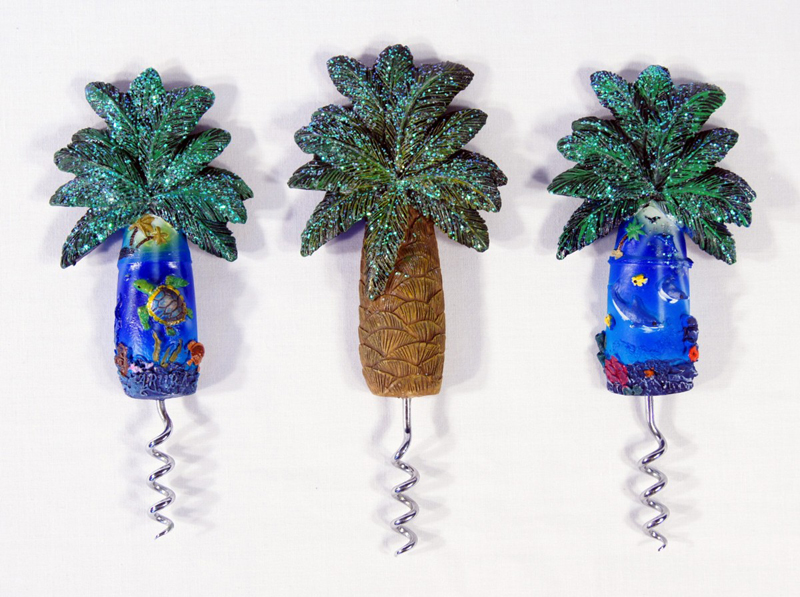 Bottle Opener-palm Tree Ocean View