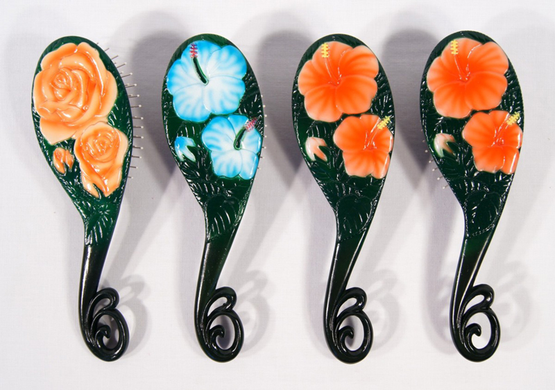Hair Brush-flower